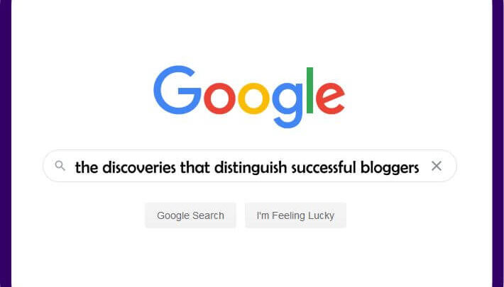 Successful blogger discoveries
