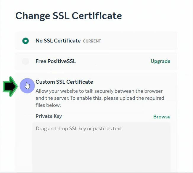 Change SSL Certificate