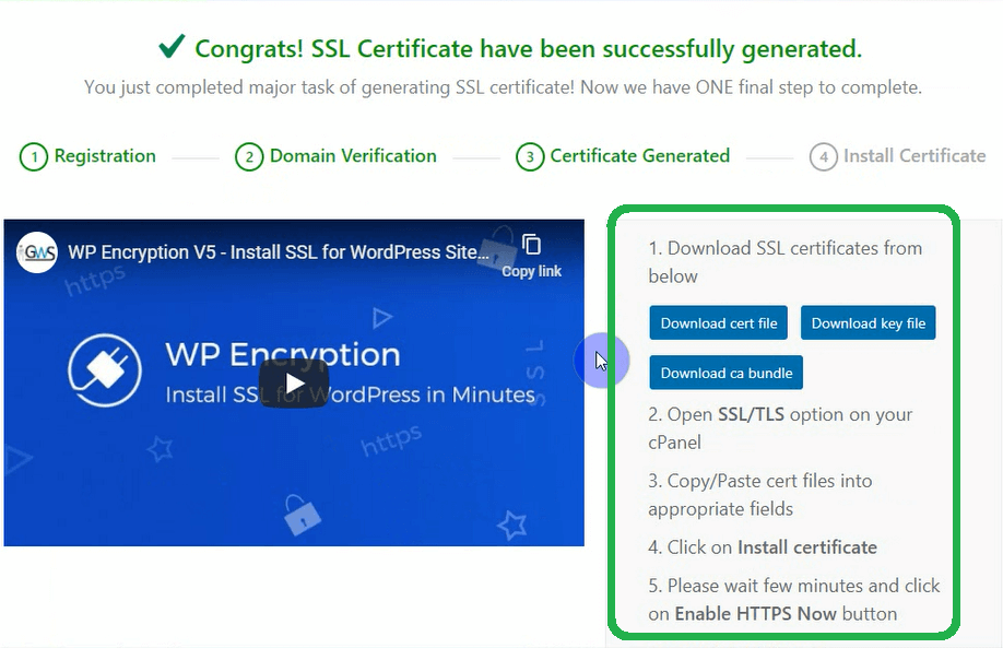 Download SSL Certificates