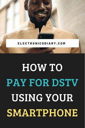 Making Dstv payment on a smartphone